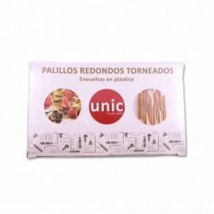 Unic Palillos Redondos Torneados - (100 Unidades)