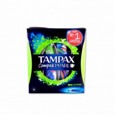 Tampax Compak Pearl Tampones Súper - (18 Unidades) - 9-12g