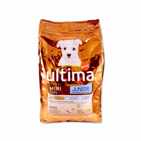 Affinity Ultima Pienso de Pollo Mini Junior - (2 - 10 Meses) - 1,5kg