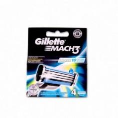Gillette Recambio Mach 3 - (4 Unidades)