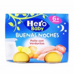 Hero Baby Potito Buenas Noches Pollo con Verduritas - (2 Unidades) - 380g