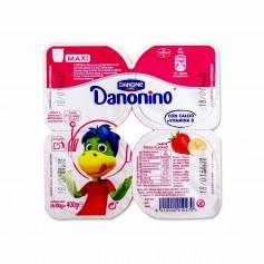 Danone Danonino Yogur Maxi con Sabor Fresa-Plátano - (4 Unidades) - 400g