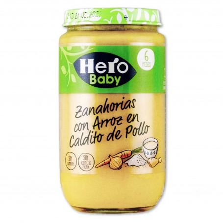 Hero Baby Potito Zanahoria con Arroz en Caldito - 235g