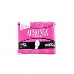 Ausonia Compresas Ultrafina Noche con Alas - (9 Unidades)