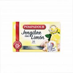 Pompadour Infusión de Jengibre con Limón - (20 Bolsitas) - 35g